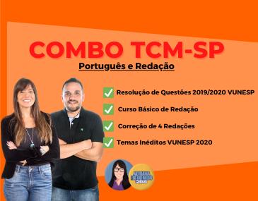 Combo Português e Redação - TCM-SP